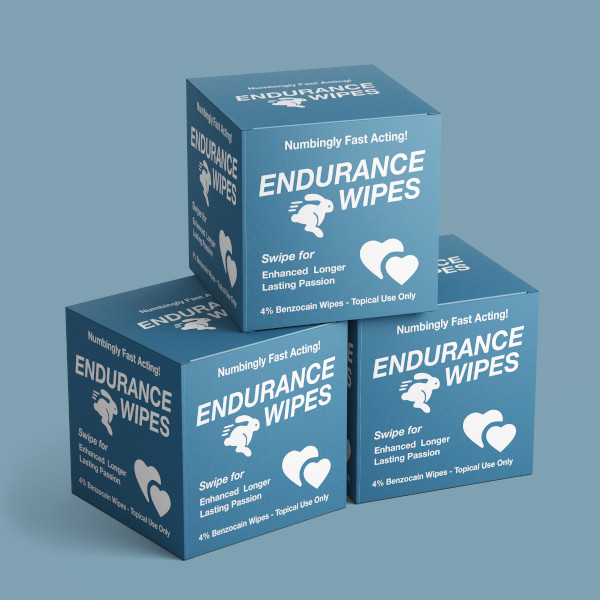 premature ejaculation wipes packaging